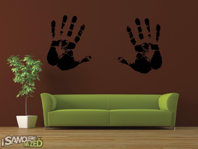 Samolepky na zeď - Samolepka na zeď - Dvě dlaně