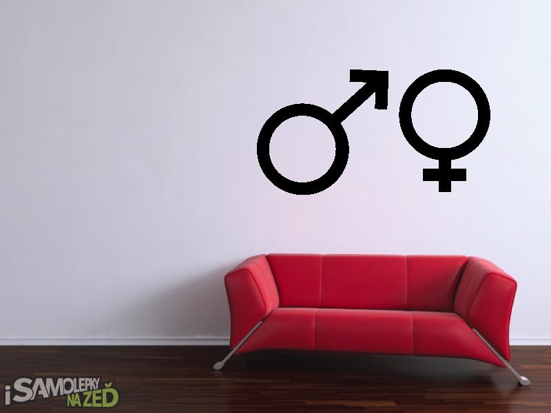 Samolepky na zeď - Muž a žena