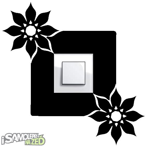 Samolepky pod vypínače - Samolepka pod vypínač - Dva květy