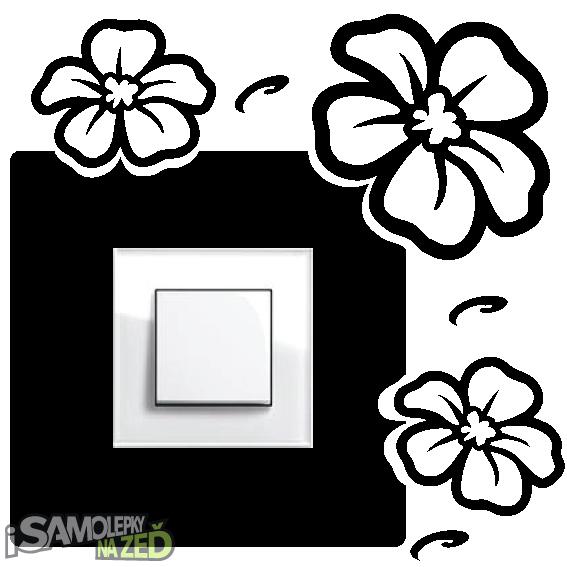 Samolepky pod vypínače - Samolepka pod vypínač - Květiny