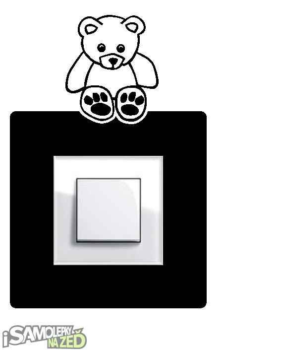 Samolepky pod vypínače - Samolepka pod vypínač - Medvídek