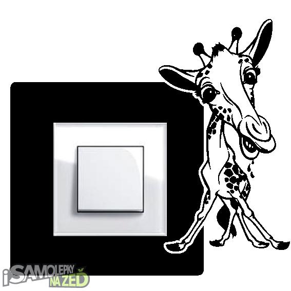Samolepky pod vypínače - Samolepka pod vypínač - Žirafa