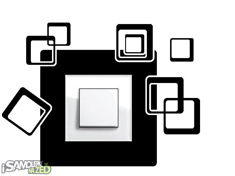 Samolepky pod vypínače - Samolepka pod vypínač - Čtverce