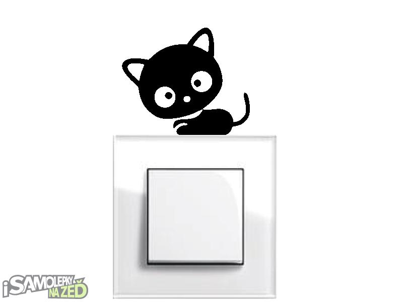 Samolepky pod vypínače - Samolepka pod vypínač - Koťátko