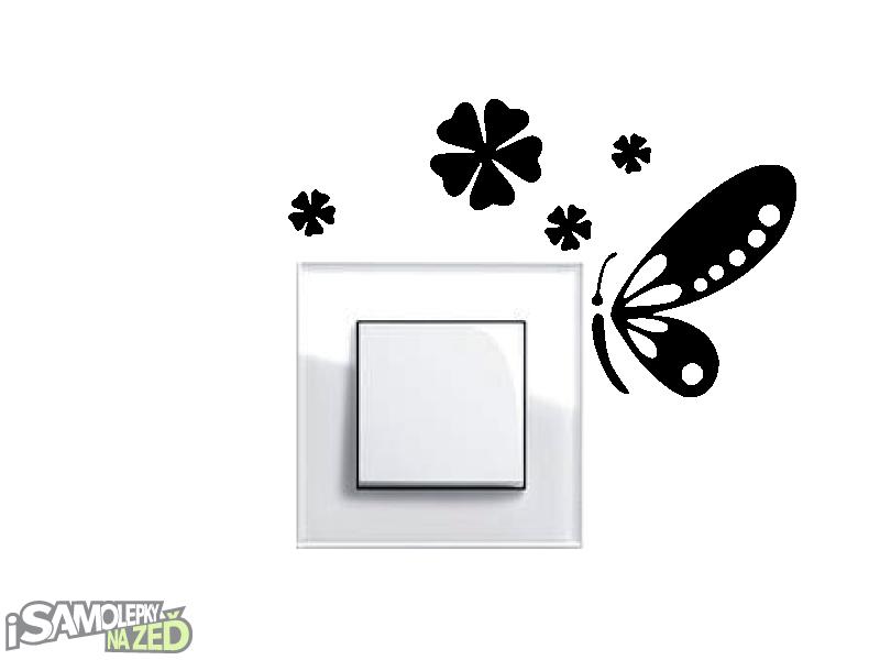 Samolepky pod vypínače - Samolepka pod vypínač - Motýlek