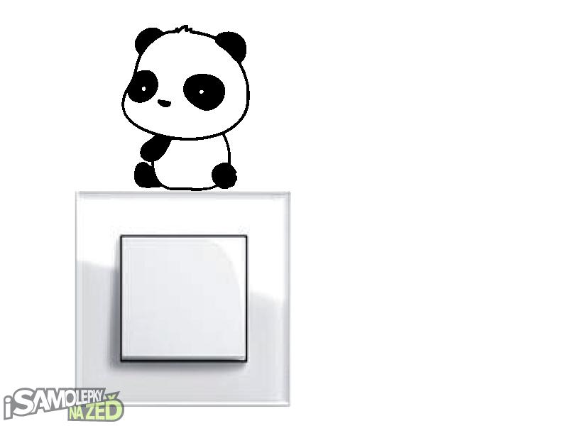 Samolepky pod vypínače - Samolepka pod vypínač - Panda