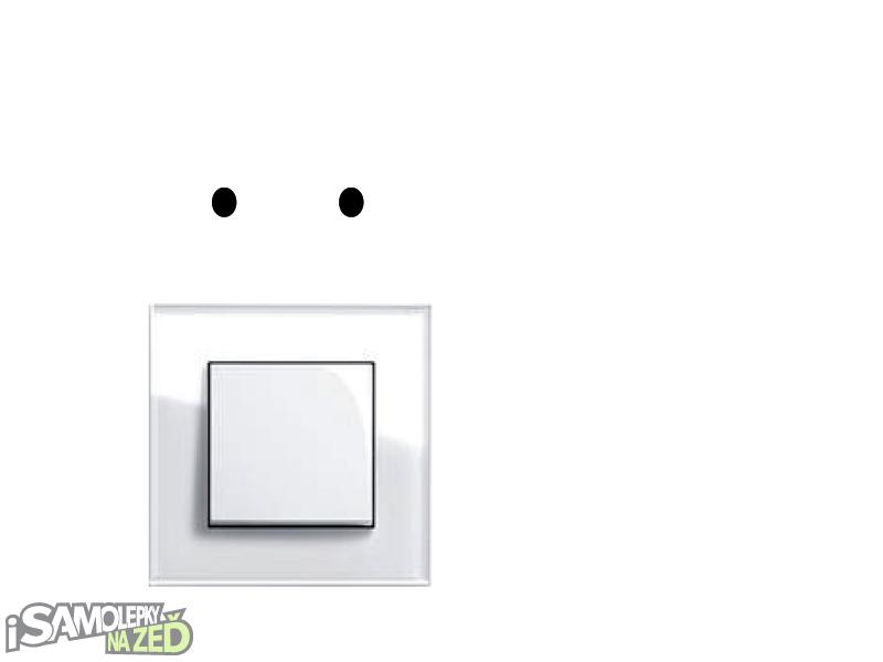 Samolepky pod vypínače - Samolepka pod vypínač - Pejsek