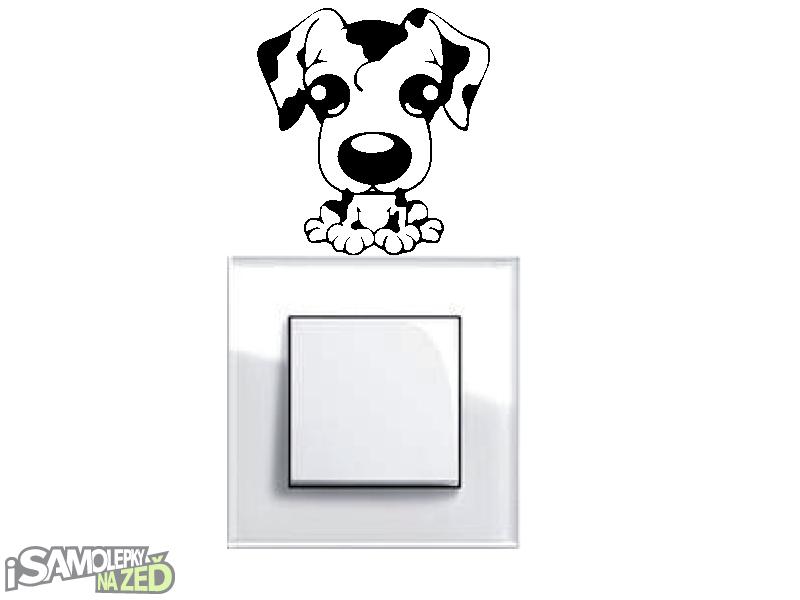 Samolepky pod vypínače - Samolepka pod vypínač - Pes