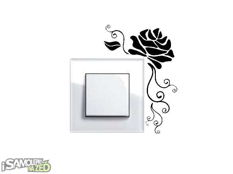 Samolepky pod vypínače - Samolepka pod vypínač - Růže