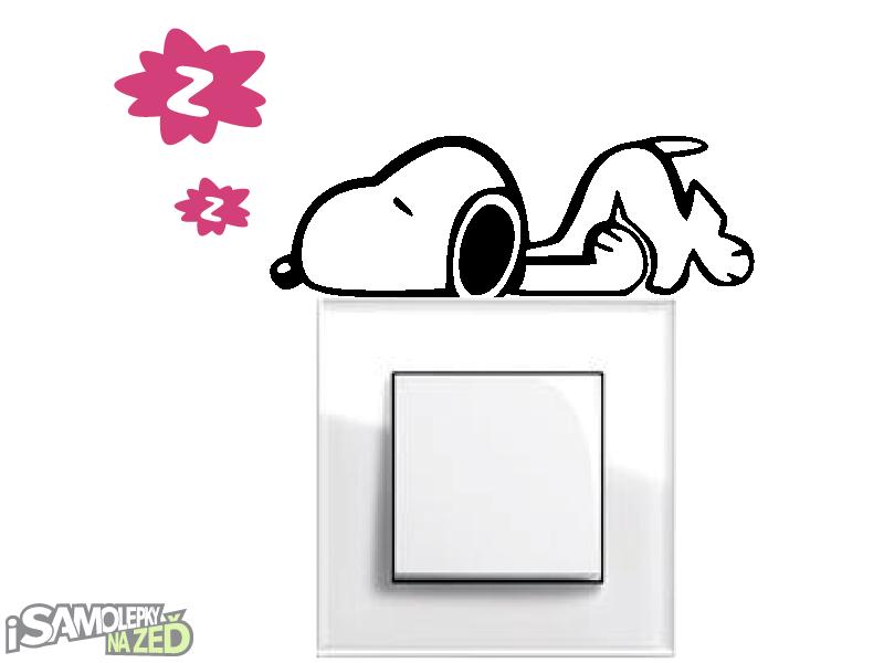 Samolepky pod vypínače - Samolepka pod vypínač - Spící pes