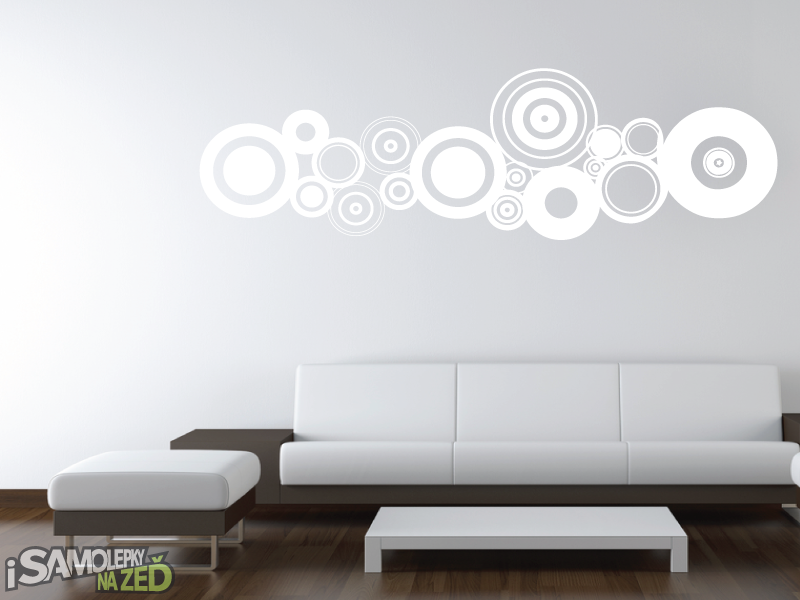 Samolepky na zeď - Samolepka na zeď - Soustava kruhů