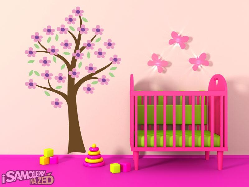 Dětské samolepky na zeď - Samolepka na zeď - Strom pro princezny