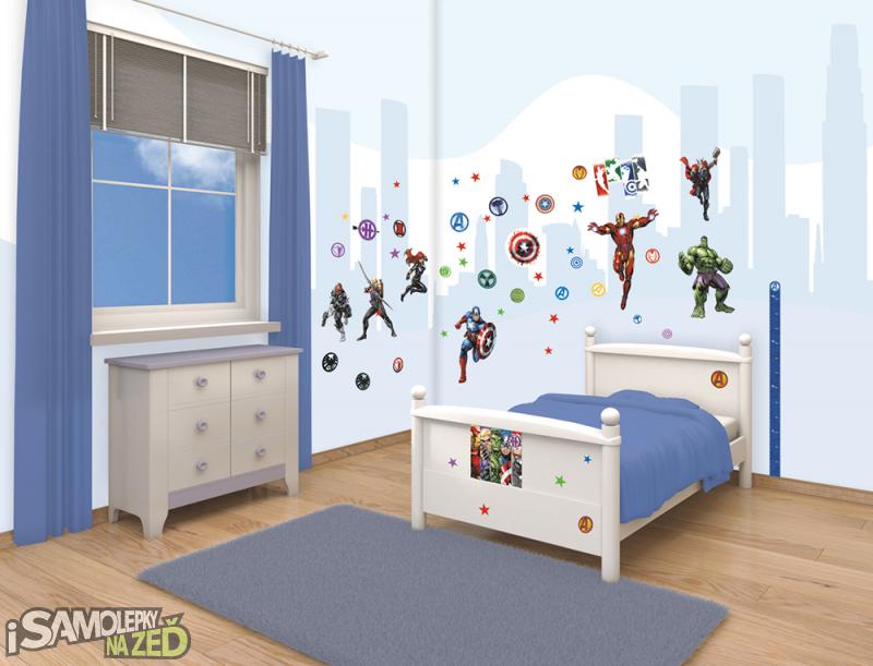 Dětské samolepky na zeď - Avengers