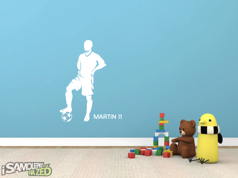 Dětské samolepky na zeď - Fotbalista s vlastním jménem v6
