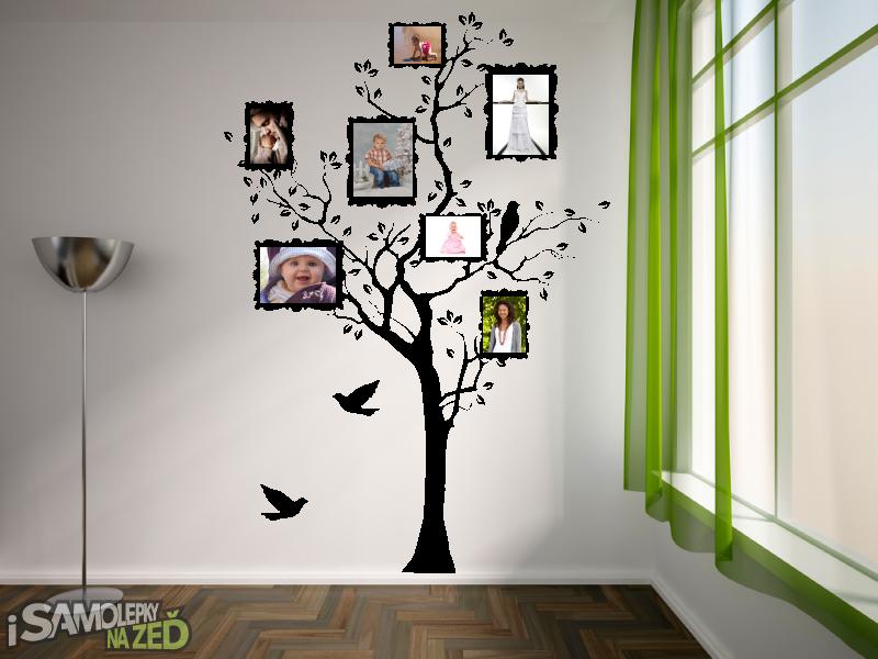 Samolepky na zeď - Samolepka na zeď - Strom s fotorámečky