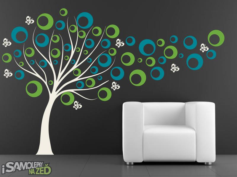 Samolepky na zeď - Samolepka na zeď - Strom s bublinkami V3