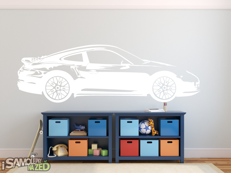Dětské samolepky na zeď - Porsche