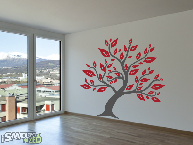 Samolepky na zeď - Listnatý strom