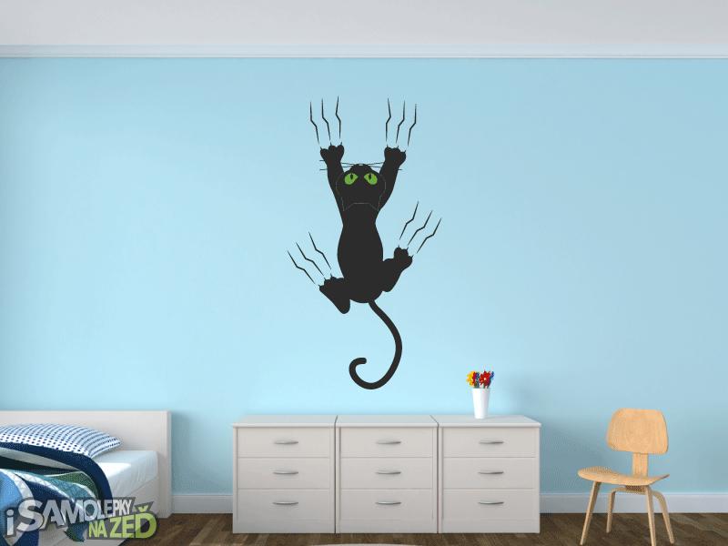 Samolepky na zeď - Kočka na zdi