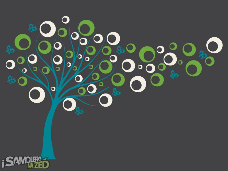 Samolepky na zeď - Bublinkový strom