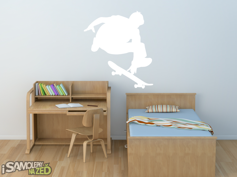 Samolepky na zeď - Samolepka na zeď - Skateboardista