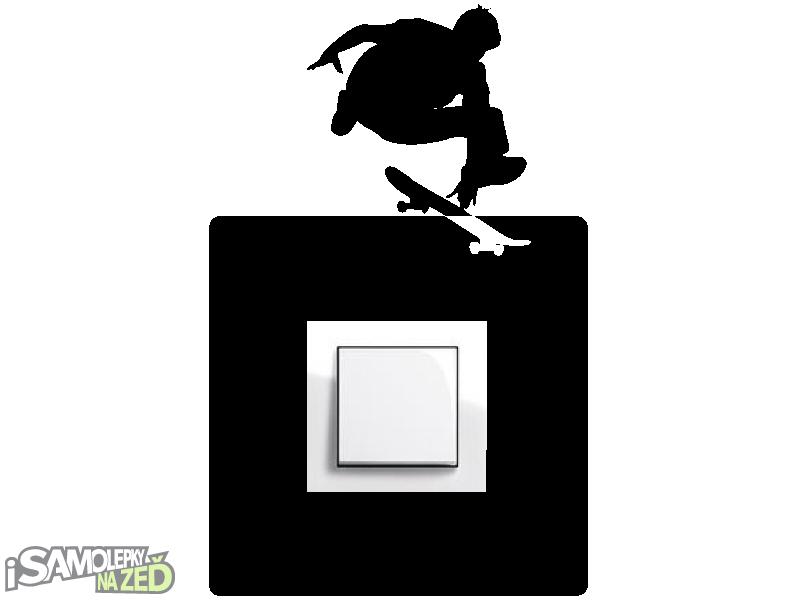 Samolepky pod vypínače - Samolepka pod vypínač - Skatebordista