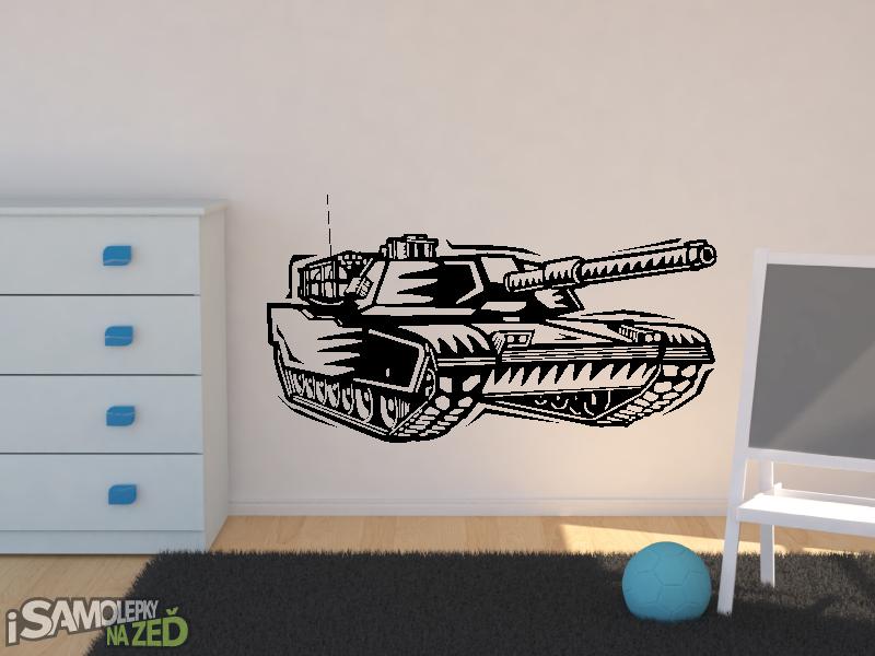 Samolepky na zeď - Samolepka na zeď - Tank