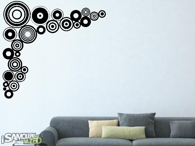 Samolepky na zeď - Rohové kruhy