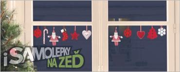 Samolepky na zeď - Vánoční dekorace na sklo Felt