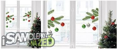 Samolepky na zeď - Vánoční dekorace na sklo Christmas tree