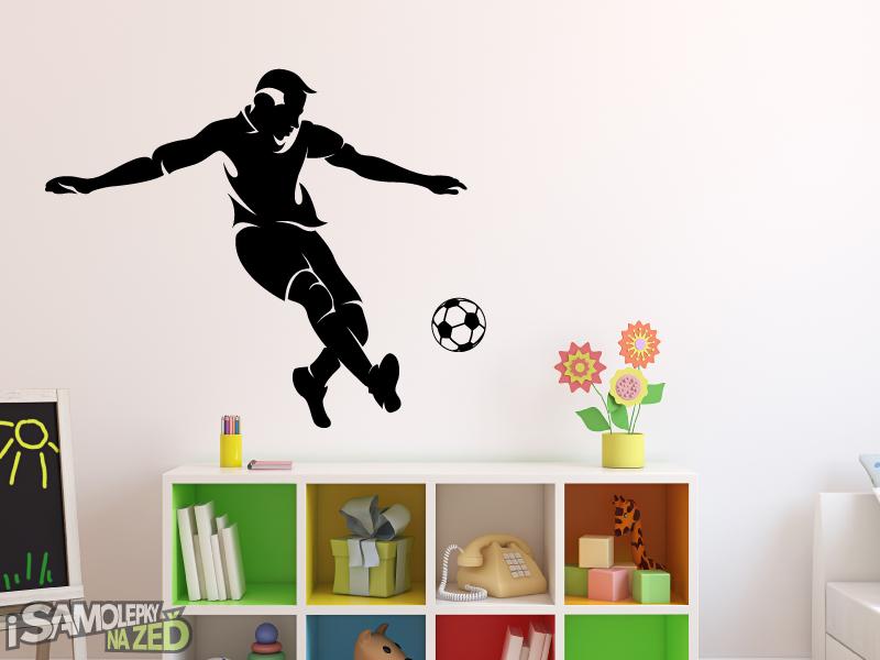 Dětské samolepky na zeď - Fotbalista s vlastním jménem v7 - výprodej