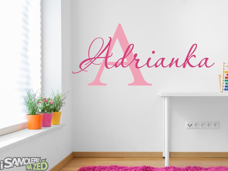 Samolepky na zeď - Jméno Adrianka