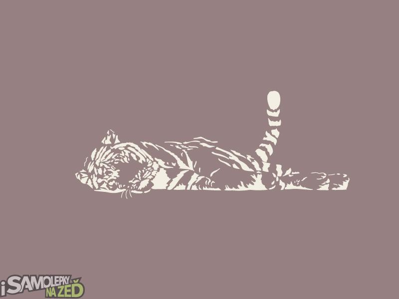 Samolepky na zeď - Spící tygr - výprodej