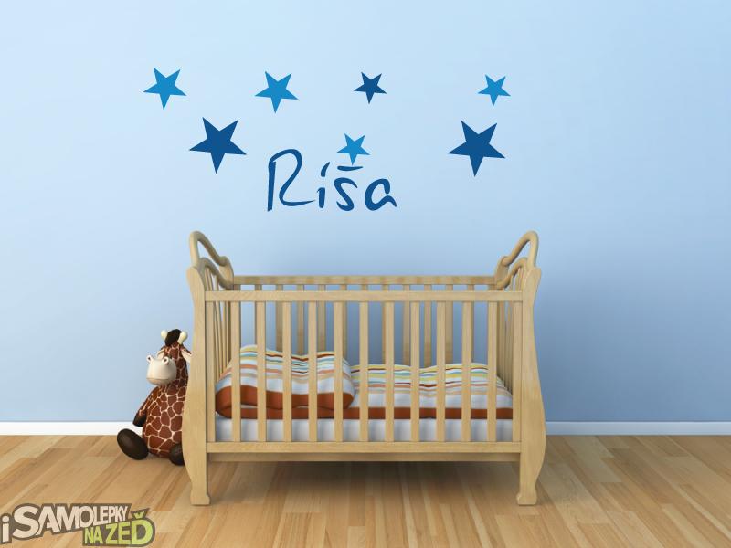 Samolepky na zeď - Jméno s hvězdami Ríša
