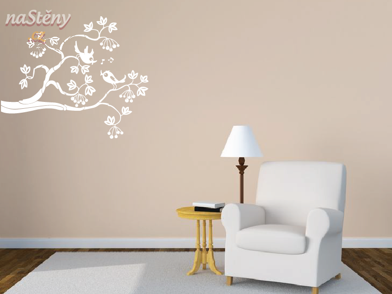 Samolepky na zeď - Samolepka na zeď - Ptáčci na větvi