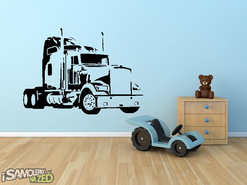 Dětské samolepky na zeď - Kamion