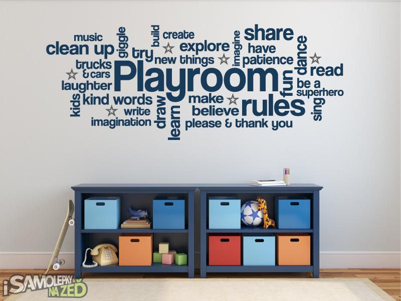 Dětské samolepky na zeď - Pravidla dětského pokoje EN