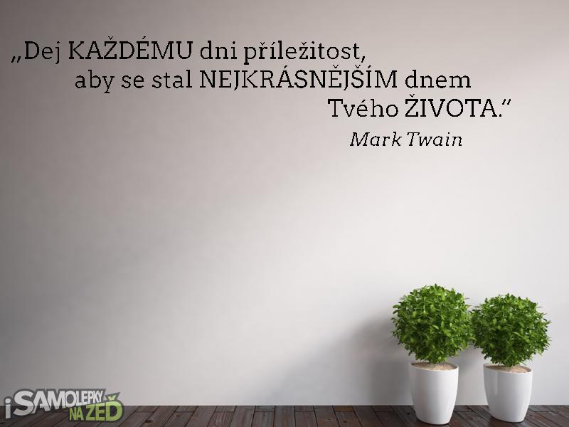 Samolepky na zeď - Samolepka na zeď - Mark Twain