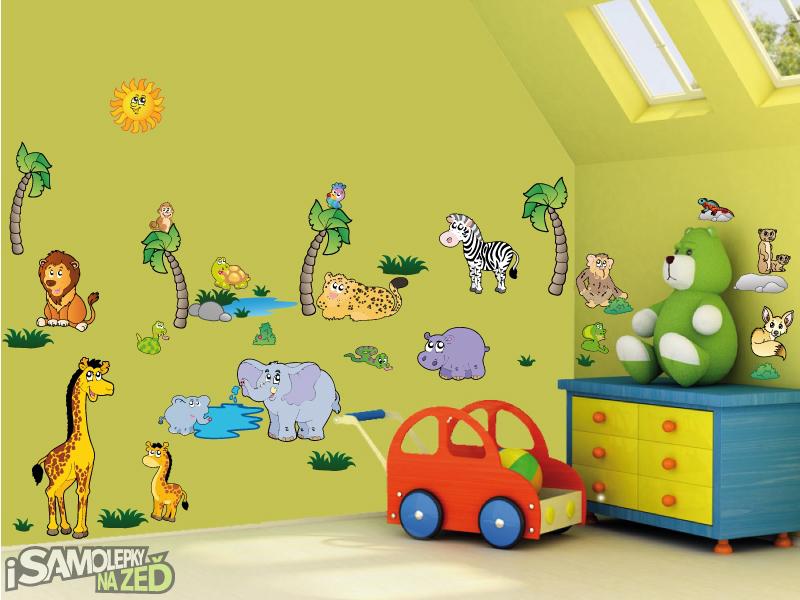 Dětské samolepky na zeď - Samolepka na zeď - Velká sada safari