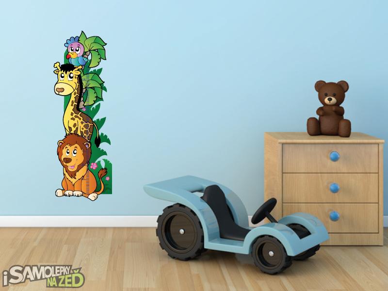 Dětské samolepky na zeď - Samolepka na zeď - Safari metr