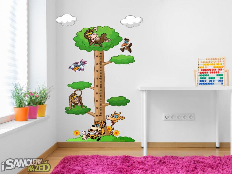 Dětské samolepky na zeď - Dětský metr