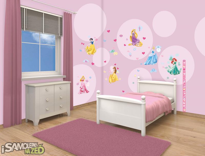 Dětské samolepky na zeď - Princezny