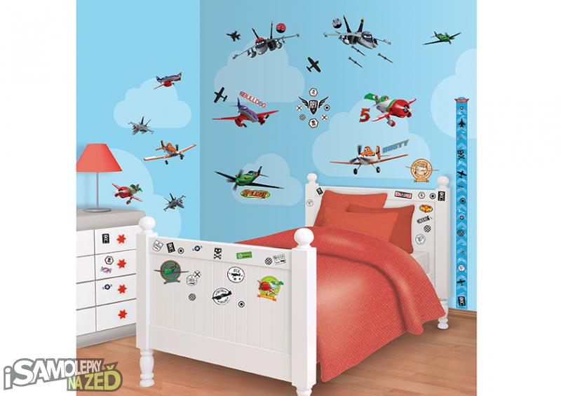 Dětské samolepky na zeď - Letadla
