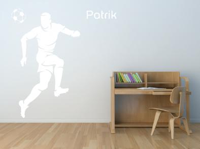 Samolepka na zeď - Fotbalista se jménem v2
