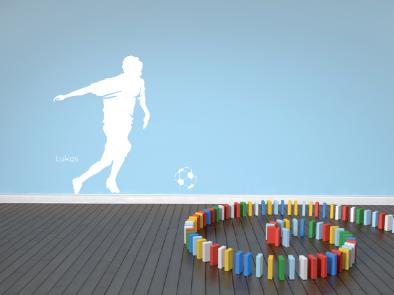 Samolepka na zeď - Fotbalista s vlastním jménem
