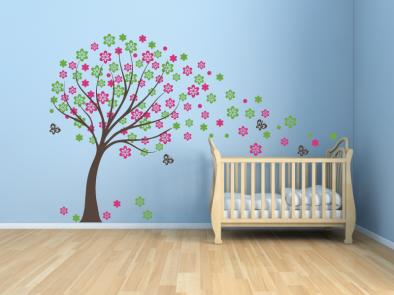 Samolepka na zeď - Jarní strom