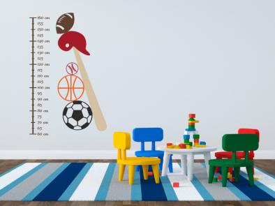 Samolepka na zeď - Dětský metr sport