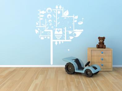 Samolepka na zeď - Dětský strom