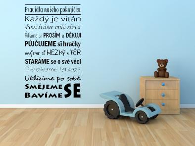 Samolepka na zeď - Pravidla dětského pokoje