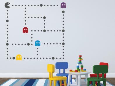 Samolepka na zeď - Pacman
